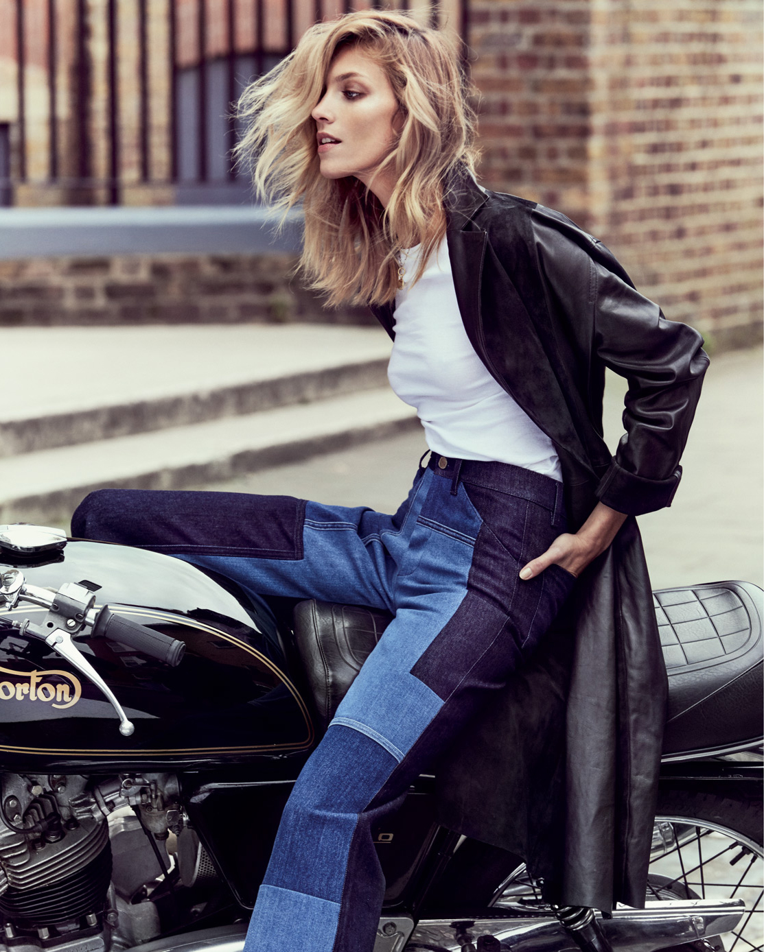 Anja Rubik by Chris Colls for Porter #15