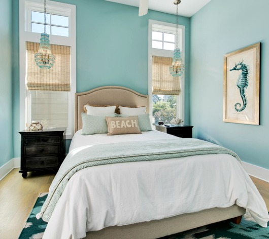 Turquoise decor ideas for the bedroom completely coastal for Aqua bedroom ideas