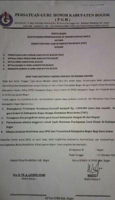 Surat Tunjangan Insentif Guru Honorer dari DPRD 2016