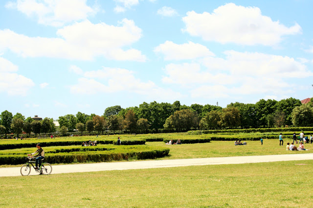 giardini, prato inglese, turisti, visitatori, alberi, cielo, parco