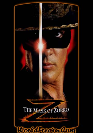 Poster Of The Mask of Zorro (1998) In Hindi English Dual Audio 300MB Compressed Small Size Pc Movie Free Download Only At worldfree4u.com