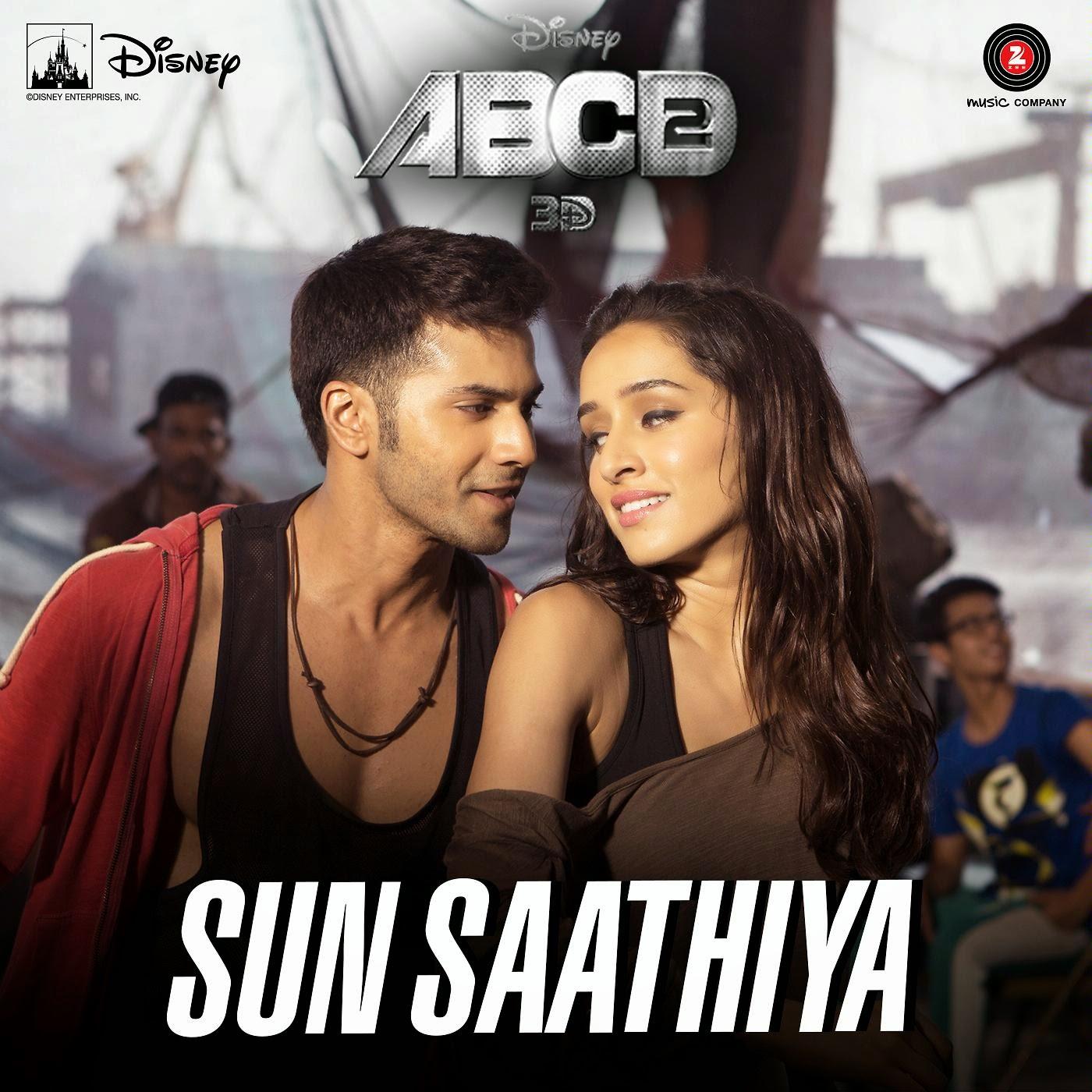 Chahunga Main Tujhe Hardam Mp3 Ringtone: Sun Saathiya Lyrics - ABCD 2