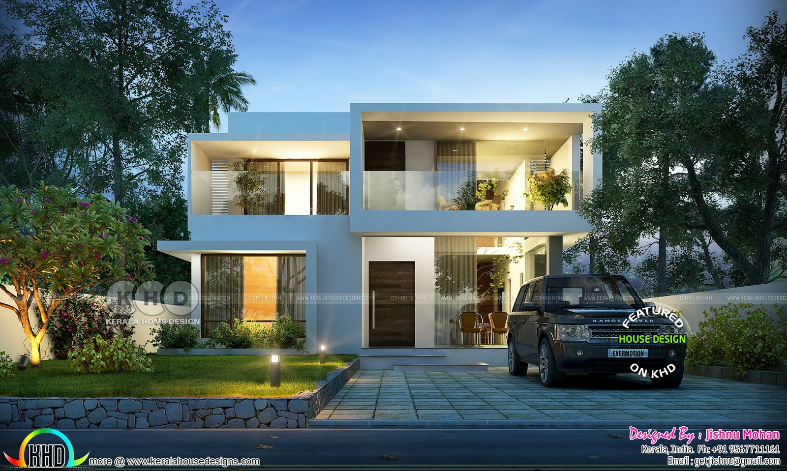Floor plan of 2000 sq.ft House In 6.5 Cent Land | Kerala ...