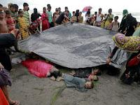 Sadis, Berondongan Peluru Militer Habisi 400 Nyawa Muslim Rohingya