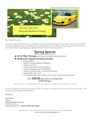 Spring Automotive Special Grand Junction Co