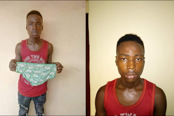 End Time Ritualists: Young Man Who Stole Female Pant In Anambra Paraded Inside The Market Square