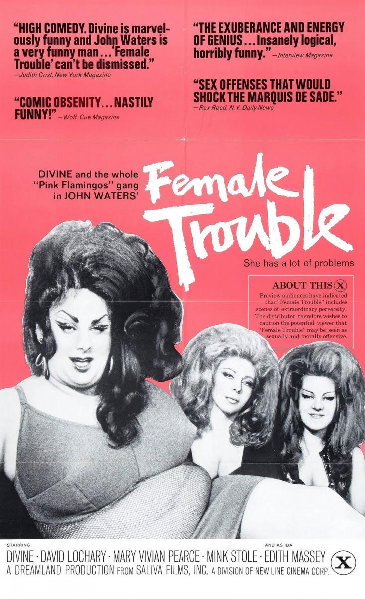 Divine in the Movie: Female Trouble, 1974 (Gif) | Blueiskewl