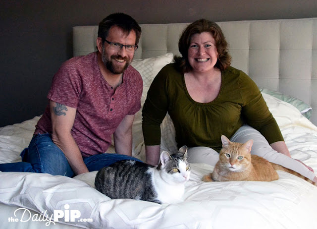 Jasper and Pickles were rescued from a hoarder but are now happy with new forever family