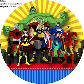 Avengers Comic Version  Toppers or Free Printable Candy Bar Labels.