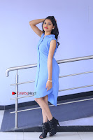 Telugu Actress Mounika UHD Stills in Blue Short Dress at Tik Tak Telugu Movie Audio Launch .COM 0032.JPG
