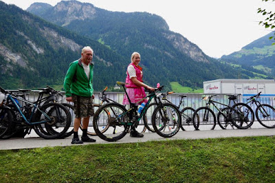 Mountainbike Rennen unterstützt durch Papa Transalp 2017