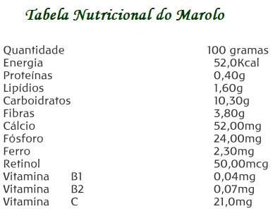 Tabela Nutricional do Marolo (Annona crassiflora Mart.)