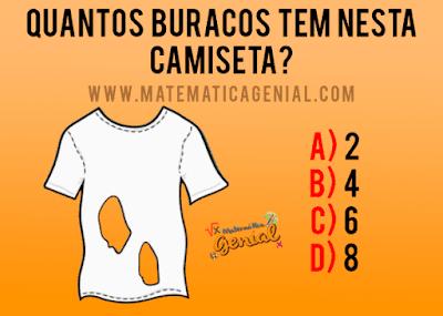 Desafio: Quantos buracos tem nesta camiseta?