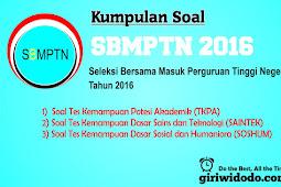 Download Soal dan Pembahasan SBMPTN 2016 Naskah Asli Lengkap