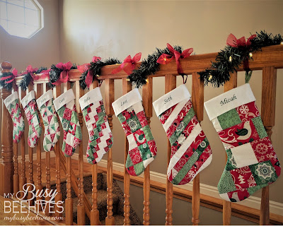 New Quilted Christmas stockings