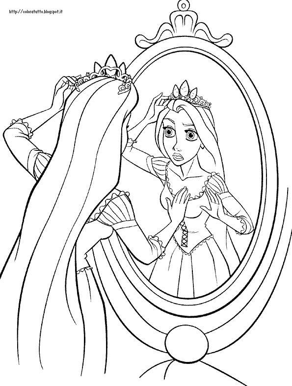 Rapunzel disegno da colorare n 1 for Immagini di rapunzel da colorare