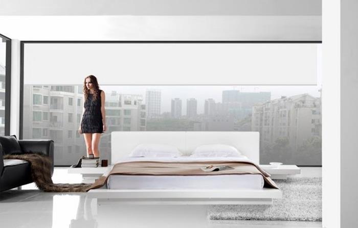 japon tarzı yer yatağı yatak odası