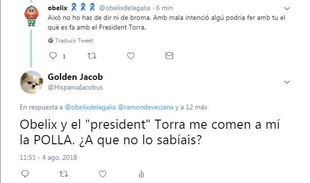 Obelix, president Torra me comen a mí la polla, Golden Jacob