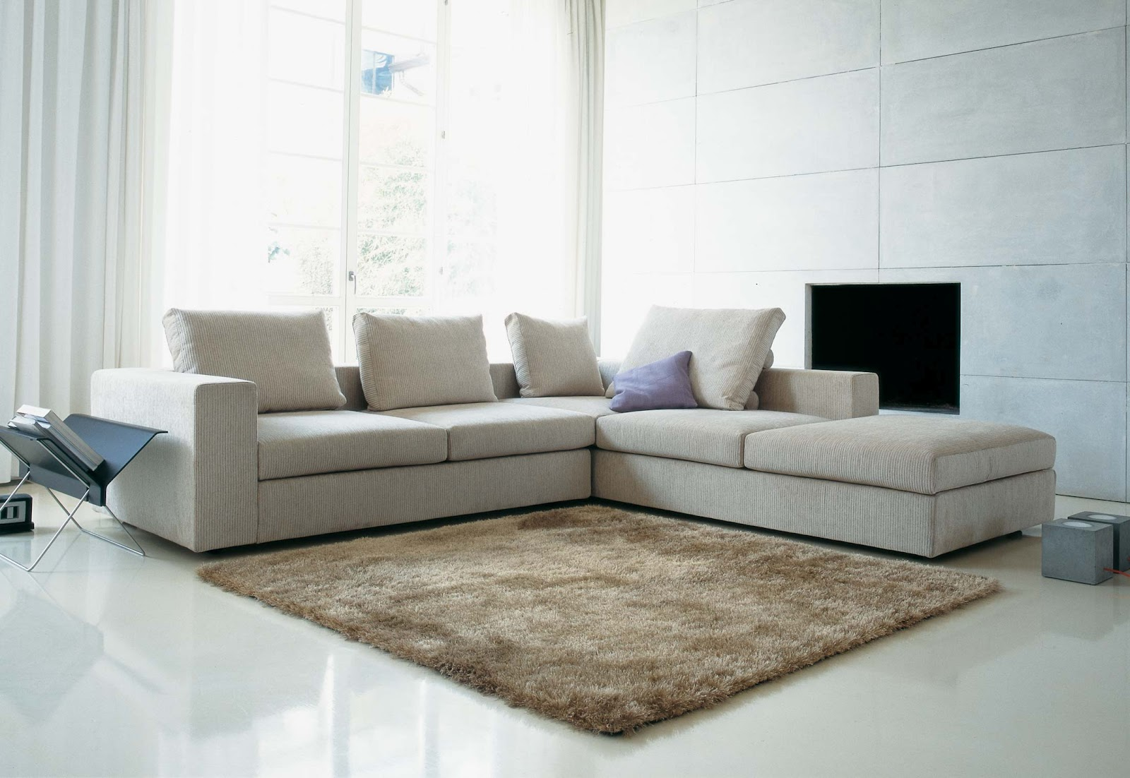 Zanotta Sofa Bed Chaise Living Room Set Beta By Designer Furniture Fitted