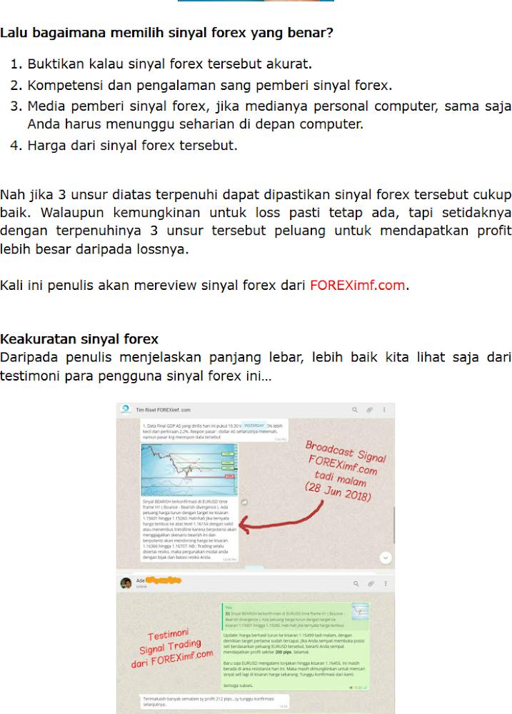 Signal forex indonesia