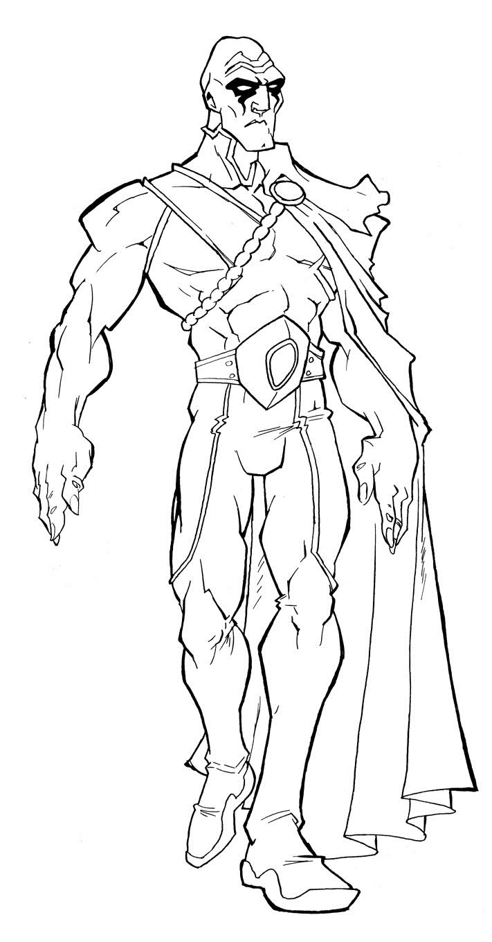 Martian Manhunter Muscular Coloring Page Free Printable