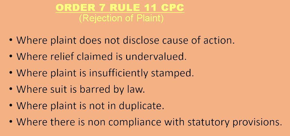 rejection of plaint