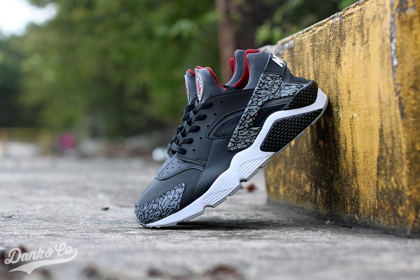 e343b6dd56a90 ... official nike air huarache black cement custom 2ccdb 9e560