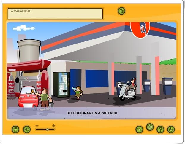 """""""La capacidad"""" (Actividad interactiva de Medidas de 5º y 6º de Primaria)"""