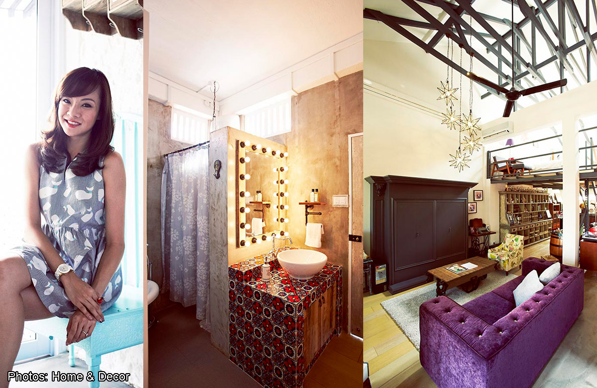 Host Jade Seah and her fiance Terence Lim's 1,270sqf second-floor unit of a shophouse in Tanjong Katong