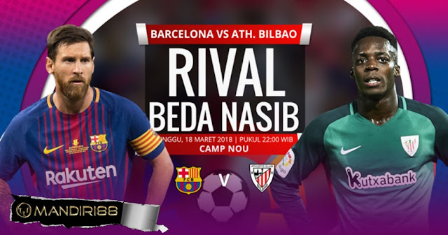 Prediksi Barcelona Vs Athletic Bilbao, Minggu 18 Maret 2018 Pukul 22.00 WIB