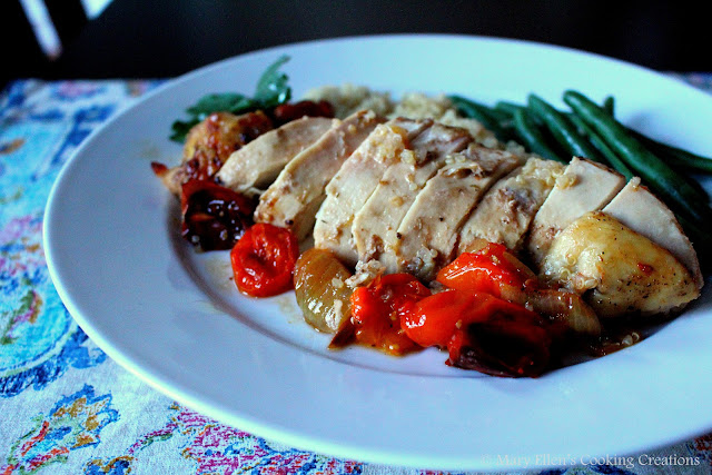 meal - Lemon and Garlic Roast Chicken with Melted Tomatoes with Garlic ...