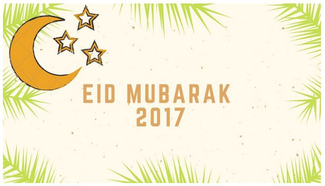 Eid Mubarak 2017 moon and star