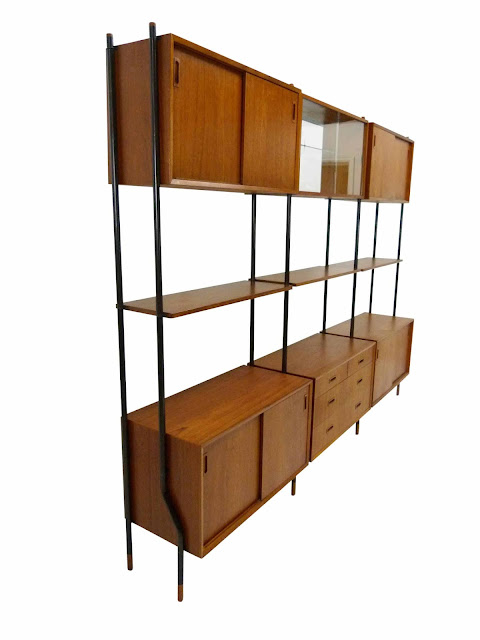 Lyby Danish Modern Teak Wall Unit Side