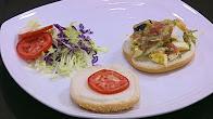 شريف الحطيبي في سندوتش وحاجة ساقعة 3-8-2017 طريقة عمل سندوتش سلطة بطاطس بالبيض - كوكتيل مانجو بالخوخ