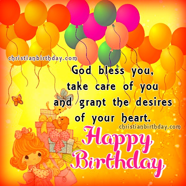 Best wishes Happy Birthday to you – Birthday Greeting Christian