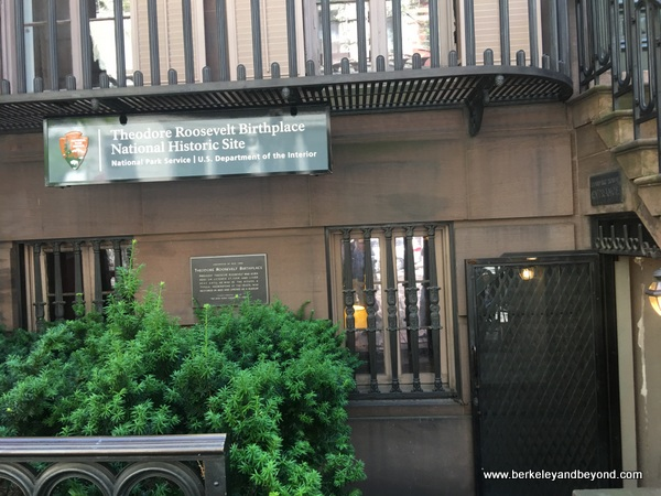 entrance to Theodore Roosevelt Birthplace in NYC