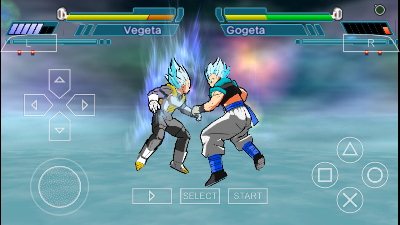 Dragon Ball Z - Shin Budokai 2 God Blue Mod PPSSPP CSO