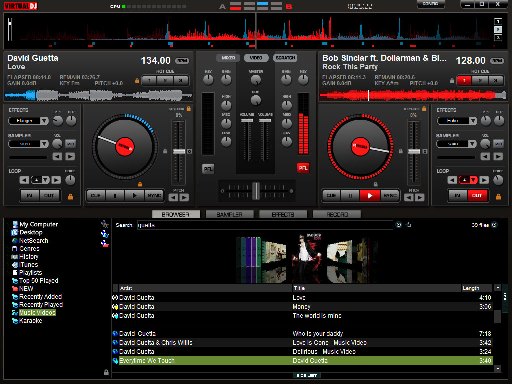 Free Download Virtual DJ Software or Application Full Version For
