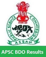 APSC BDO Results