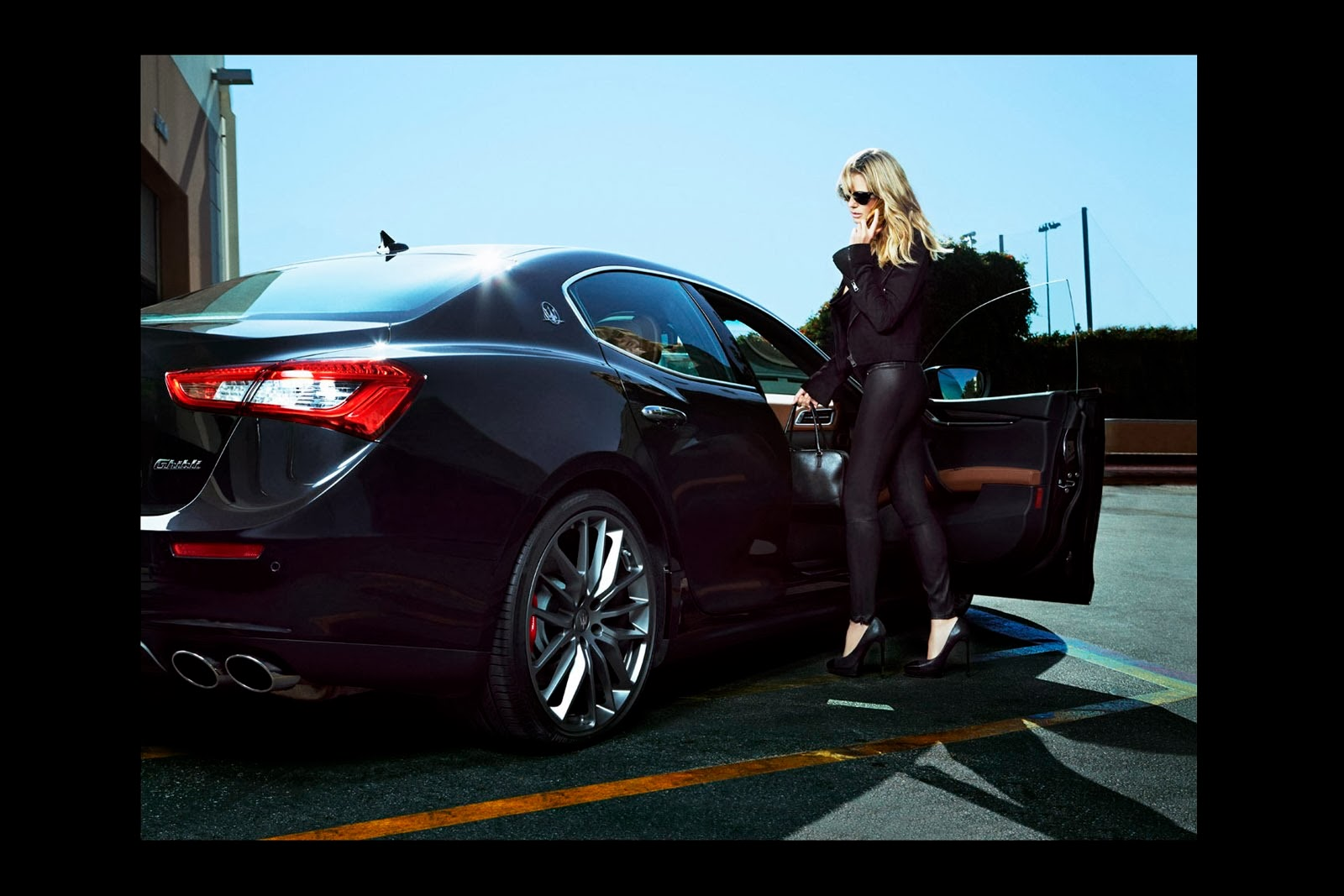Heidi Klum with Maserati for Sports Illustrated
