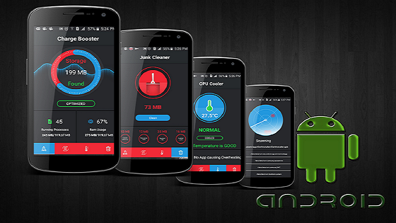 Android application to clean, cool, speed up and maintain battery