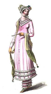 Seaside walking dress La Belle Assemblée (Aug 1810)