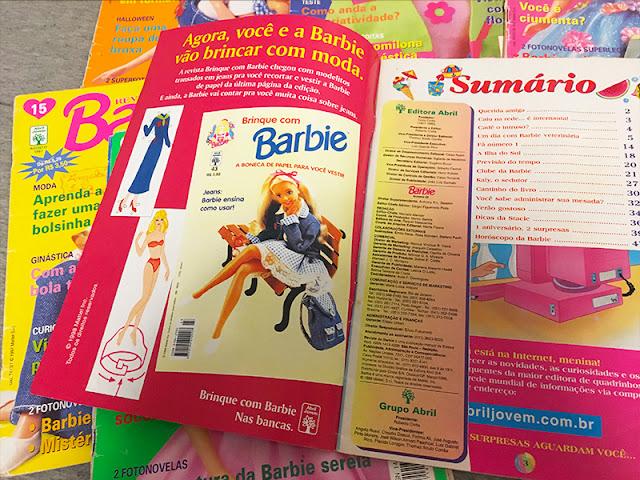 Propagandas de boneca de papel e o sumário super fofo