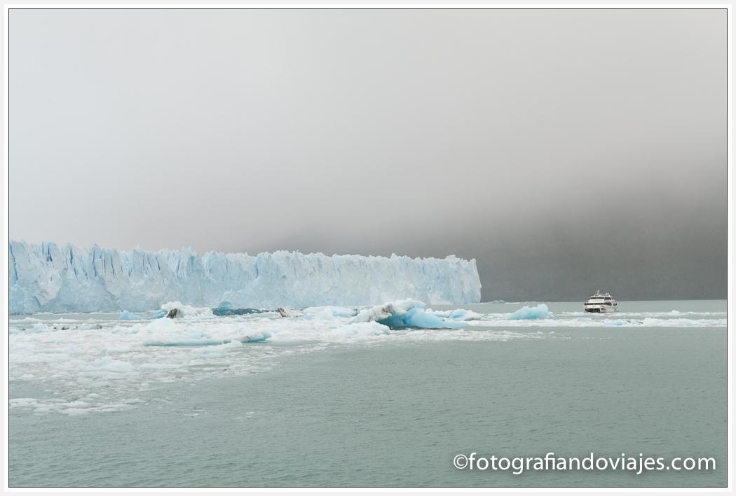 Glaciar Perito Moreno desde el barco