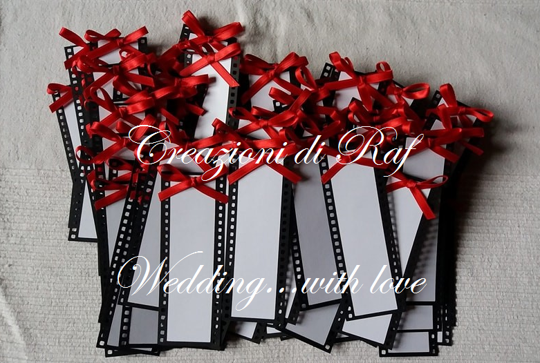 Matrimonio Tema Cinema : Tema film e cinema per un tableau con foto sposi tableau