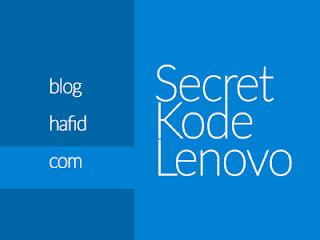 Kumpulan kode rahasia Lenovo