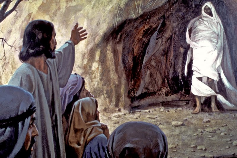 when did jesus first meet mary martha and lazarus