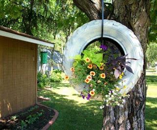 DIY Buat Pasu Bunga Daripada Tayar