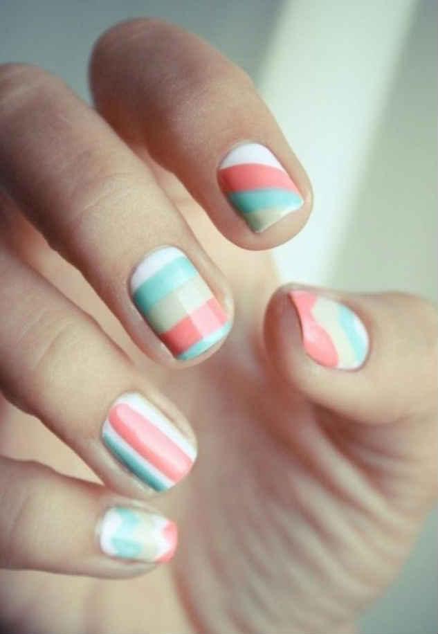 Designs Art Nail Polish Pastel Nail Design No 04