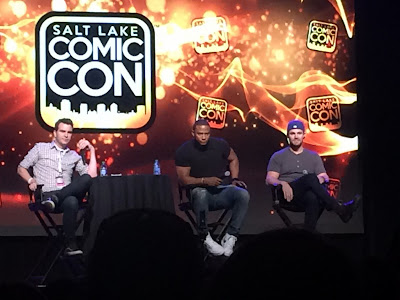 Stephen Amell and David Ramsey at SLComic Con